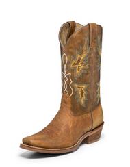 Men's Nocona Tan Vintage Caballo Half Moon Toe Western Boot