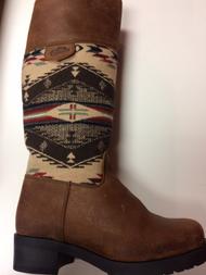 Women's Paul Brodie  Pendleton Blanket Winter Boot With Zipper