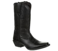 Women's Durango Black Leather Square Toe