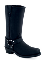 Men's Old West Black Harness Motorcycle Boot