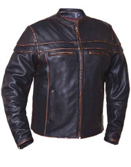 Men's Unik Leather Colorado Brown Jacket