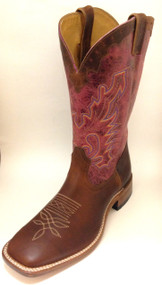 Men's Boulet Brown Wide Square Toe Cowboy Boot