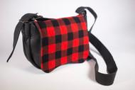 Hides in Hand Black Lumberjack Saddle Bag