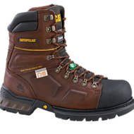"CAT 8"" Tensile Brown Safety Boot"