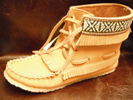 Laurentian Chief Moose Hide Fringed Moccasins