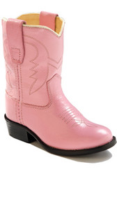 Old West Pink Kid's Cowboy Boot (Toddler's sz 4-8)