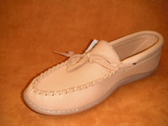 Men's Laurentian Chief Moose Hide Moccasin with Wrap Rubber Sole