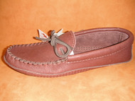 Men's Laurentian Chief Medium Brown Moosehide Moccasin