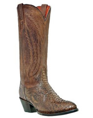 Men's Dan Post Brown Python Snakeskin Cowboy Boot