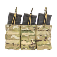 Shellback Tactical Triple M4 Open Top Mag Pouch Multicam Front