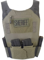 STEALTH Low Vis Concealable Plate Carrier - RANGER GREEN