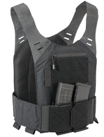 STEALTH Low Vis Concealable Plate Carrier - BLACK