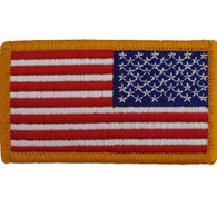 Reverse Flag Embroidered Patch Full Color