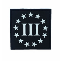 Three Percenter PVC Patch Black