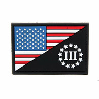 Three Percetner American Flage PVC Patch