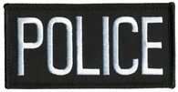 Hero's Pride Police Chest Patch White Black