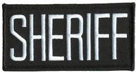 Hero's Pride Sheriff Chest Patch White/Black