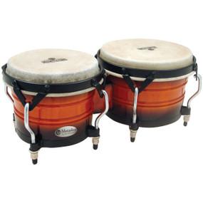 Latin Percussion M301-VSB Matador Custom Wood Bongos, Vintage Sunburst (M301-VSB)