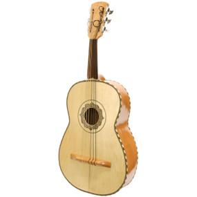 Paracho Elite Guitarron 6 String Mariachi Acoustic Bass Guitar w/ GigBag, Natural