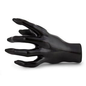 Guitar Grip Valkyrie Series Left Hand Facing Female Guitar Hanger, Metallic Black
