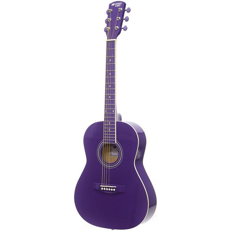 "Darling Divas DDPKG02PU 36"" Steel String Acoustic Guitar Pack, Purple Haze"