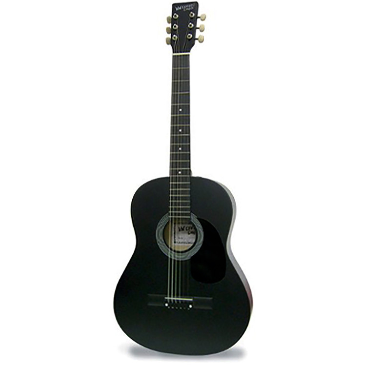"Darling Divas DDPKG12BK 39"" Steel String Acoustic Guitar, Voodoo Black"