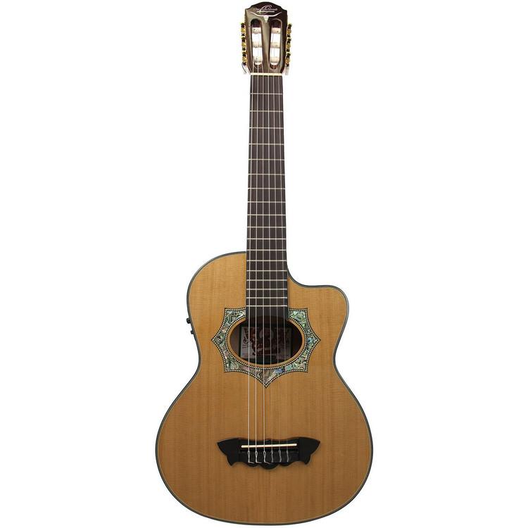 oscar schmidt oh30sce acoustic electric requinto guitar with gig bag. Black Bedroom Furniture Sets. Home Design Ideas