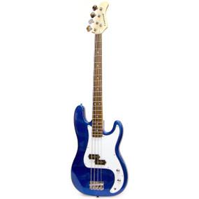 Crestwood PB970MBL 4-String Electric Bass Guitar, Metallic Blue