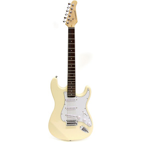 Crestwood ST920CR Strat Style Electric Guitar, Cream