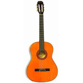 "Lauren LA100C 39"" Full-Size Nylon String Classical Acoustic Guitar, Natural"