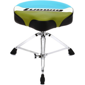 Ludwig LAC48TH Atlas Classic Saddle Drum Throne, Blue/Olive