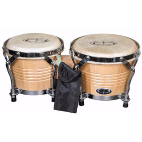 "GP Percussion B2 Pro Series Tunable 6"" & 7"" Solid Birch Bongos, Natural (GPB2)"