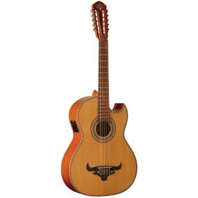 Oscar Shmidt OH42SE Acoustic-Electric Bajo Quinto Guitar w/ Gig Bag, Natural