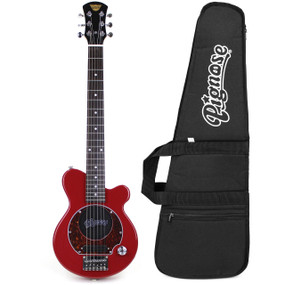 Pignose PGG-200 Mini Electric Guitar w/ Built-In Amp & GigBag, Candy Apply Red (PGG-200RD-KIT)