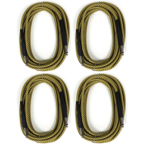 Perfektion 20FT Vintage Braided Tweed Guitar, Bass, & Instrument Cable - 4 PACK