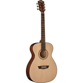 Washburn AF5K Apprentice 5 Series Acoustic Folk Body Guitar w/ Hard Case