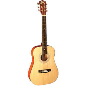 Indiana I-34-N Runt Series 34-Inch Mini Dreadnought Acoustic Guitar, Natural