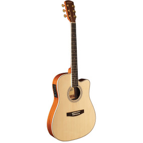 Indiana I-TB2N Thin Body Acoustic Electric Guitar, Natural