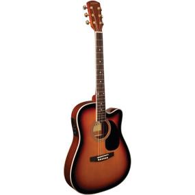 Indiana I-TB2VB Thin Body Acoustic Electric Guitar, Vintage Burst