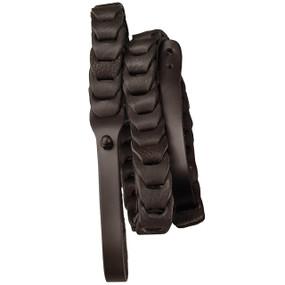 Morgan Monroe MDS-5 Deluxe Leather Mandolin Strap, Black (MDS-5BK)