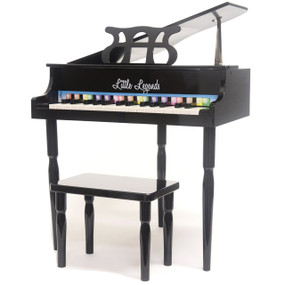Little Legends LLBGD303B 3 Leg Baby Grand 30-Key Toy Piano w/ Bench, Black