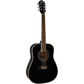 Oscar Schmidt OG1BLH Left-Handed 3/4 Size Dreadnought Acoustic Guitar, Black