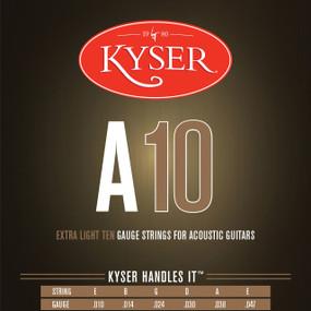 Keyser A10 92/8 Phosphor Bronze Extra Light Acoustic Guitar Strings, KA1