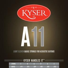Kyser A11 92/8 Phosphor Bronze Light Acoustic Guitar Strings, KA2