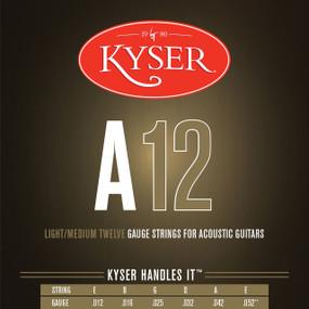 Kyser A12 92/8 Phosphor Bronze Light/Medium Acoustic Guitar Strings, KA3