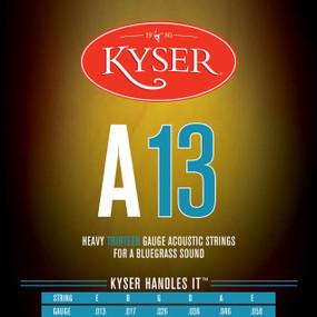 Kyser A13 Bluegrass Acoustic Guitar Strings - 92/8 Phosphor Bronze, KA4