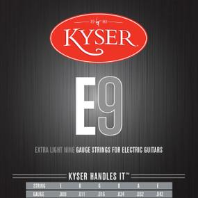 Kyser E9 Extra Light Electric Guitar Strings - Nickel Plated, KE1