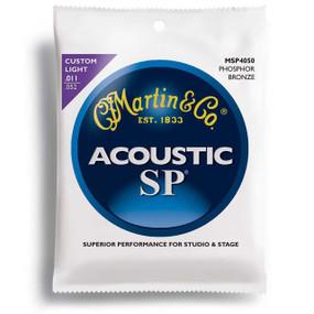 Martin SP Phosphor Bronze Custom Light Acoustic Guitar Strings, MSP4050