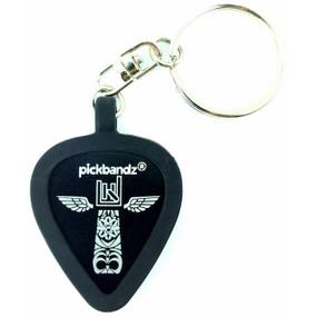 Pickbandz Key Chain with Silicone Pick Holder Keychain Pendant, Epic Black