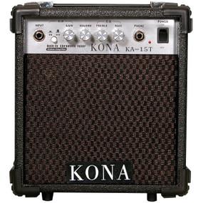 Kona Guitar Amp KA15T 10-Watt Guitar Amplifier w/ Built-In Tuner & Overdrive